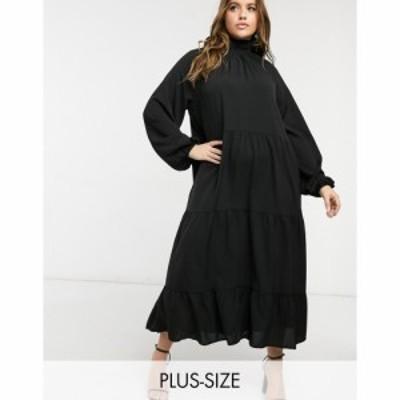 ローラ メイ Lola May Curve レディース ワンピース ワンピース・ドレス Trapeze Cotton Poplin Dress In Black ブラック
