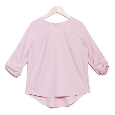サルース salus 袖リボンプルオーバーブラウス (T0D(ピンク))