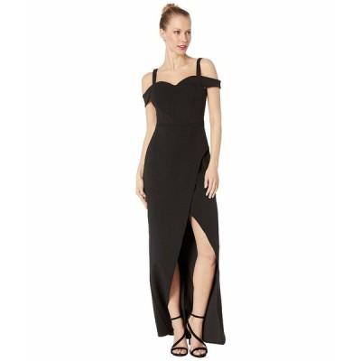 ビーシービージーマックスアズリア ワンピース トップス レディース Cold-Shoulder Gown Dress Black