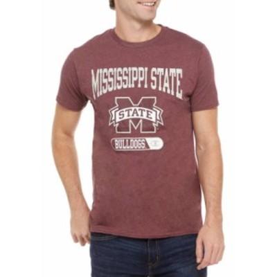 チャンピオン メンズ シャツ トップス NCAA Mississippi State Bulldogs Graphic Heathered T-Shirt MAROON
