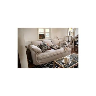 ソファー ソファ 3人掛け 長椅子 テレワーク 在宅 大きい 大人数 長い 幅広 ワイド アイボリー 約 幅210 奥行94 高さ87 座面高50