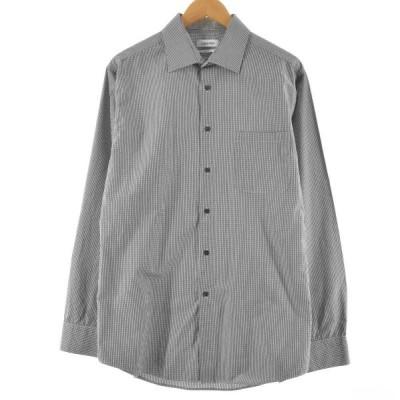 カルバンクライン Calvin klein regular fit チェック柄 ドレスシャツ メンズM /eaa132704