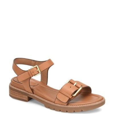 ソフト レディース サンダル シューズ Noele Sporty Leather Lug Sole Sandals Luggage