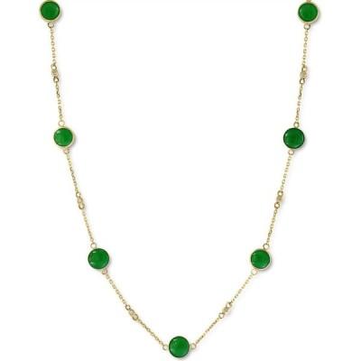 """エフィー EFFY Collection レディース ネックレス ジュエリー・アクセサリー EFFY Dyed Jade 18"""" Collar Necklace in 14k Gold (Also in Lapis Lazuli) Jade"""