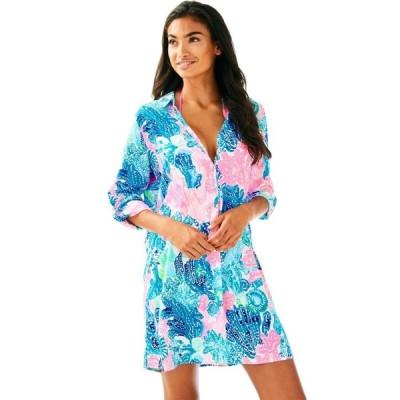 ワンピース リリーピュリッツァー Lilly Pulitzer LILLITH TUNIC DRESS Multi Boho Batik CORALS SEAURCH S M