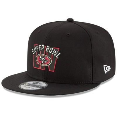 サンフランシスコ・49ers New Era Super Bowl LIV Bound Stacked 9FIFTY Snapback キャップ - Black