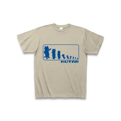 KUTAR Tシャツ Pure Color Print (シルバーグレー)