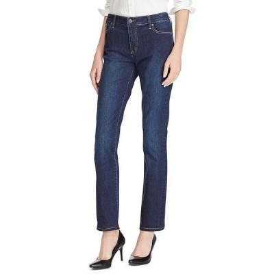 ラルフローレン レディース デニムパンツ ボトムス Stretch Denim Premier Straight-Leg Jeans Deep Royal