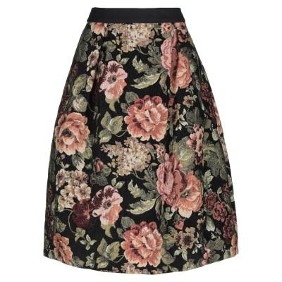 シモーネ・ロシャ SIMONE ROCHA 7分丈スカート ブラック 8 コットン 92% / ポリエステル 8% 7分丈スカート