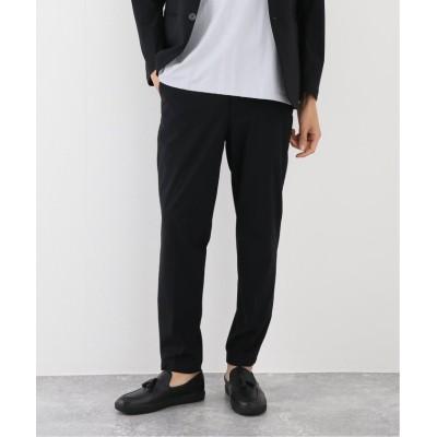 【エディフィス】 《ウォッシャブル》トリコット テーパード スラックス メンズ ブラック XL EDIFICE
