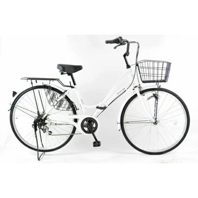 21Technology MCA266 パールホワイト 折りたたみ自転車(26インチ・6段変速) メーカー直送
