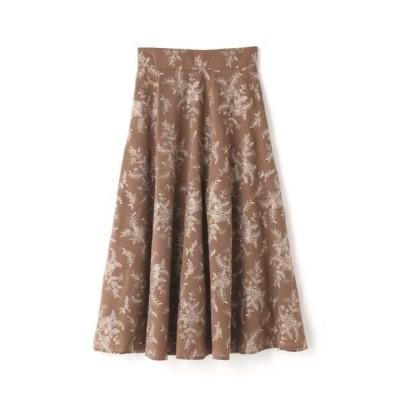 JILLSTUART/ジルスチュアート ミシェル刺繍ロングスカート BROWN 4