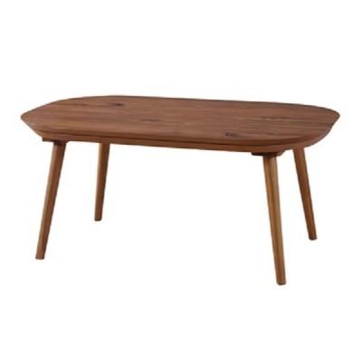 アカシア こたつテーブル R90 BR(リビングテーブル,楕円,丸テーブル,モダン,コタツ,和風)