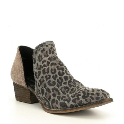 ディバトゥルー レディース ブーツ&レインブーツ シューズ Shy Town Leopard-Print Suede Two-Piece Block Heel Booties Leopard Dust
