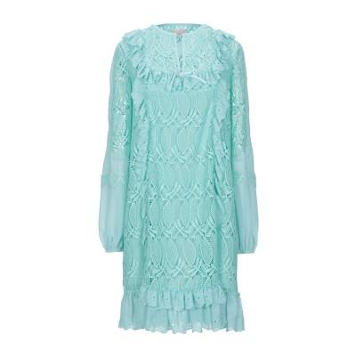 ジャンバ GIAMBA ミニワンピース&ドレス ターコイズブルー 40 ポリエステル 100% ミニワンピース&ドレス