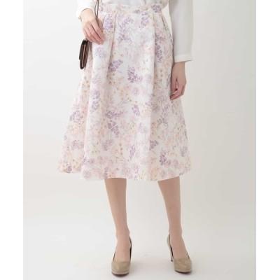OFUON / タックボタニカルスカート WOMEN スカート > スカート