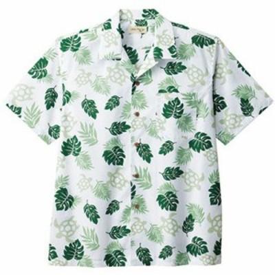 ボンマックス BONMAX アロハシャツ ウミガメ柄 FB4545U-4 グリーン おしゃれ 夏 オープンカラー