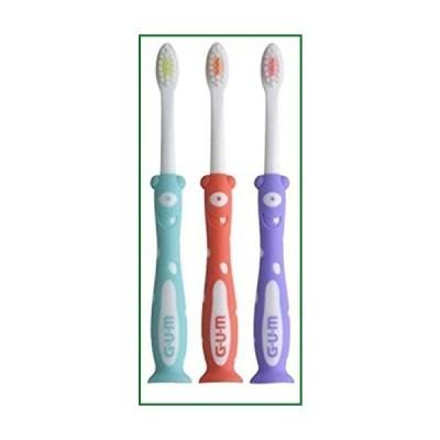 GUM GUMキッズモンスターズ歯ブラシ(3パック)