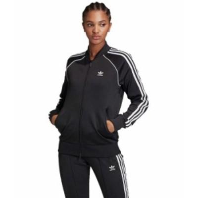 アディダス レディース コート アウター Superstar Track Jacket Black/White