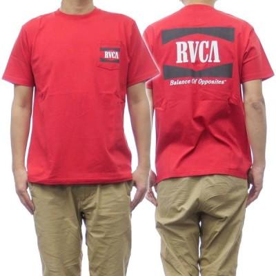 RVCA ルーカ メンズクルーネックTシャツ OPEN RANGE TEE / BB041-204 レッド /2021春夏新作