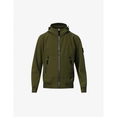 ストーンアイランド STONE ISLAND メンズ ジャケット フード アウター Brand-patch stretch-woven hooded jacket OLIVE GREEN
