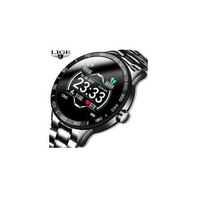 激安 おしゃれ 腕時計 New LIGE Smart Watch Stainless Steel Waterproof Sports Heart Rate Blood Pressure