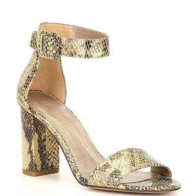ペレモーダ レディース サンダル シューズ Zoey Snake Printed Embossed Ankle Strap Dress Sandals Gold Multi Snake