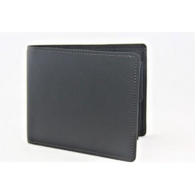 牛革製 二つ折り財布 黒