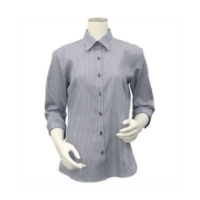 【トーキョーシャツ】 シャツ 七分袖 形態安定 レギュラー衿 綿100% レディース ウィメンズ レディース ブルー S TOKYO SHIRTS