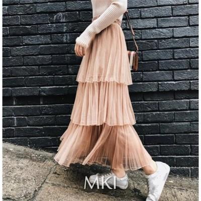ロング スカートファッション 大きいサイズ ゆったり 40代 30代 秋冬 着痩せ 女性 穿き心地も抜群 きれいめ エレガント