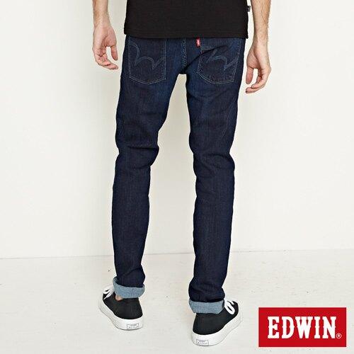 EDWIN EDGE LINE 超彈性 窄直筒牛仔褲-男女款 原藍磨 SLIM