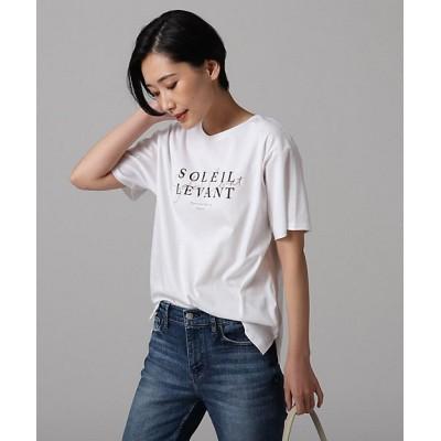 <UNTITLED L(Women)/アンタイトルL> 大きいサイズ [L]【洗える】コットンロゴTシャツ シロ【三越伊勢丹/公式】