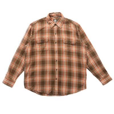 ティンバーランド チェックシャツ 長袖 オレンジ ブラウン サイズ表記:L