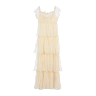 ブルーガール ブルマリン BLUGIRL BLUMARINE ロングワンピース&ドレス ベージュ 40 ポリエステル 85% / コットン 15%