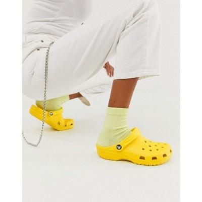 クロックス Crocs レディース シューズ・靴 classic shoe in yellow レモン