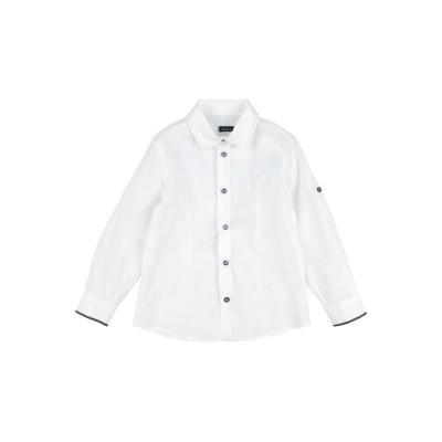 BABY A. シャツ ホワイト 5 ラミー 100% シャツ