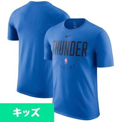 NBA サンダー Tシャツ ユース ドライ フィット エッセンシャル プラクティス ナイキ/Nike ブルー