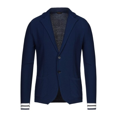 HōSIO テーラードジャケット ブルー M コットン 50% / レーヨン 40% / ポリエステル 10% テーラードジャケット