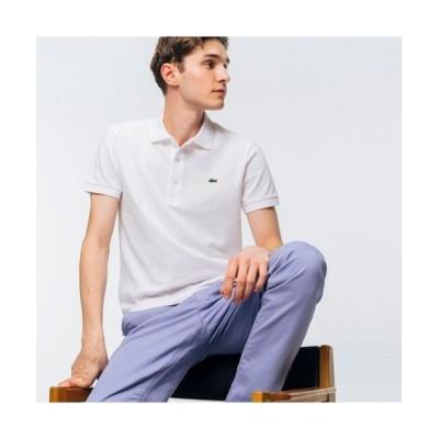 LACOSTE/ラコステ スリムフィットソリッドポロシャツ(半袖) ホワイト 4(日本サイズL)
