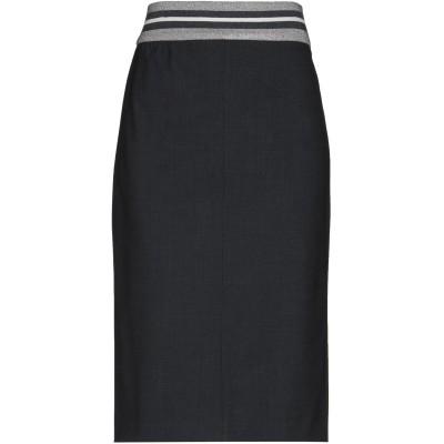 ブルネロ クチネリ BRUNELLO CUCINELLI ひざ丈スカート スチールグレー 42 75% バージンウール 23% ナイロン 2% ポリ