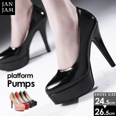 大きいサイズ レディース 靴 パンプス プラットフォーム ハイヒール