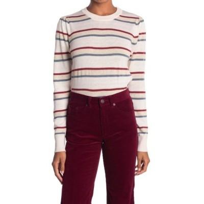 ハートルーム レディース ニット&セーター アウター Stripe Pullover Sweater ALMOND