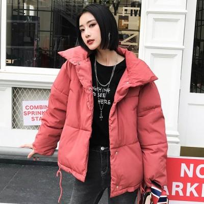 ダウンコート レディース アウター 韓国風 中綿コート ゆったり 防寒服 ダウンジャケット ショートコート 中綿ジャケット 軽量 保温 暖かい 可愛い コート