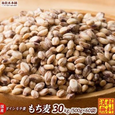 雑穀 麦 国産 もち麦 30kg(500g×60袋) 送料無料 高品質 厳選 ダイシモチ 腸内環境 脂肪激減 ダイエット ダイエット食品 置き換えダイエ
