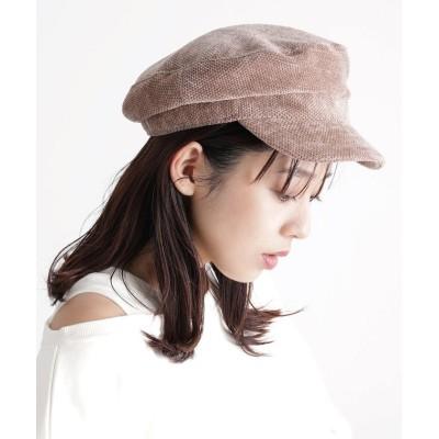(ViS/ビス)モール&エコレザーキャスケット/レディース ベージュ(27)