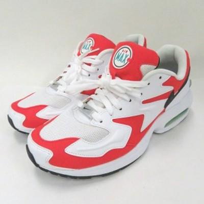 【中古】ナイキ NIKE AIR MAX2 LIGHT HABANERO RED AO1741-101 US 9.5 27.5cm  スニーカー 靴  メンズ