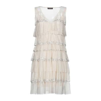 ツインセット シモーナ バルビエリ TWINSET ミニワンピース&ドレス ベージュ 46 100% ポリエステル ミニワンピース&ドレス