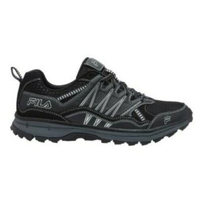 フィラ メンズ スニーカー シューズ Men's Fila Evergrand TR Trail Running Shoe Black/Ebony/Metallic Silver