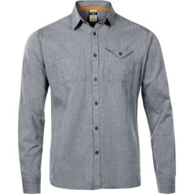 ラブ メンズ シャツ トップス Maker Long-Sleeve Shirt - Men's  Grey Chambray