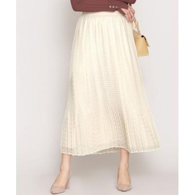 nano・universe / スノードットジャガードプリーツスカート WOMEN スカート > スカート